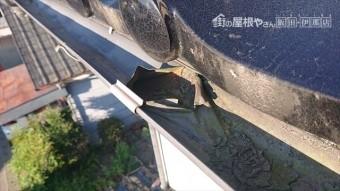 長野県駒ヶ根市雨樋交換・外壁塗装現状5