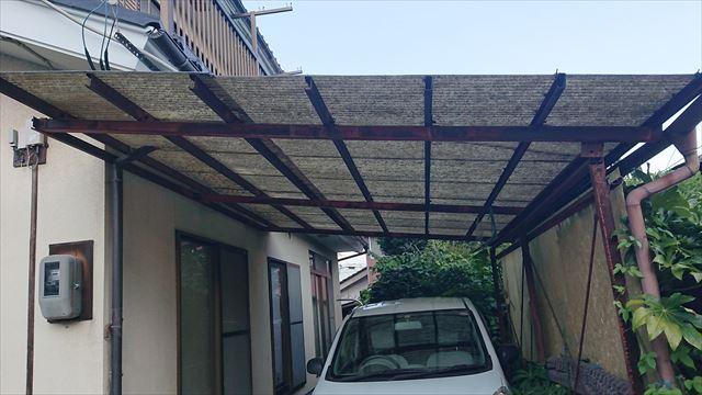 長野県駒ヶ根市雨樋交換・外壁塗装現状2