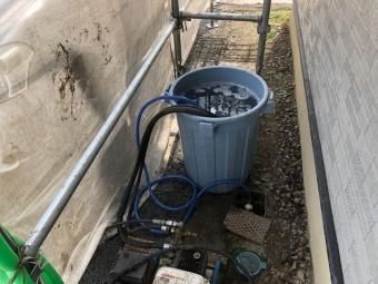 コロニアルの除菌高圧洗浄をしました1