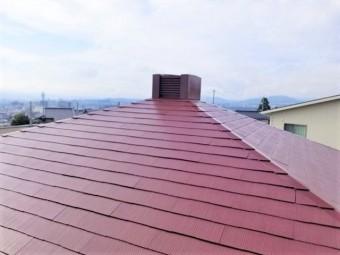 コロニアル スレート屋根塗装完成しました。