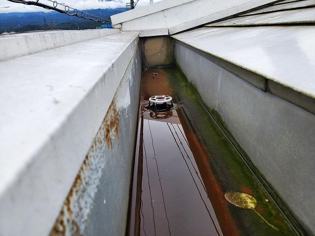 屋根上の箱樋です