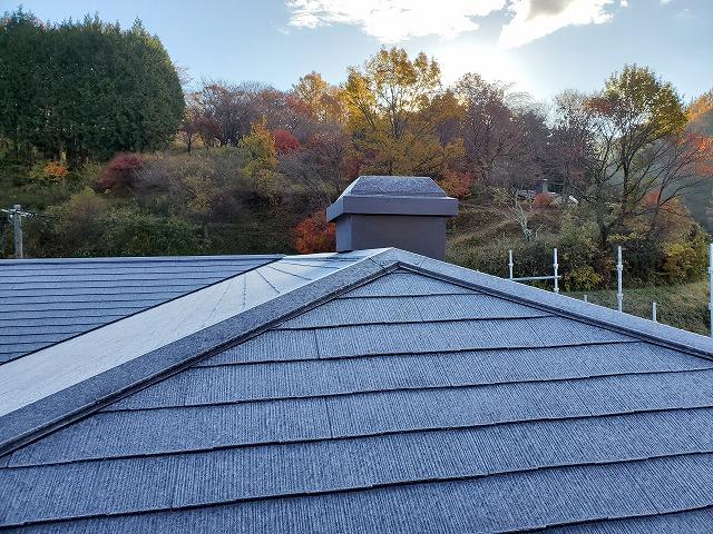 屋根塗装完成です