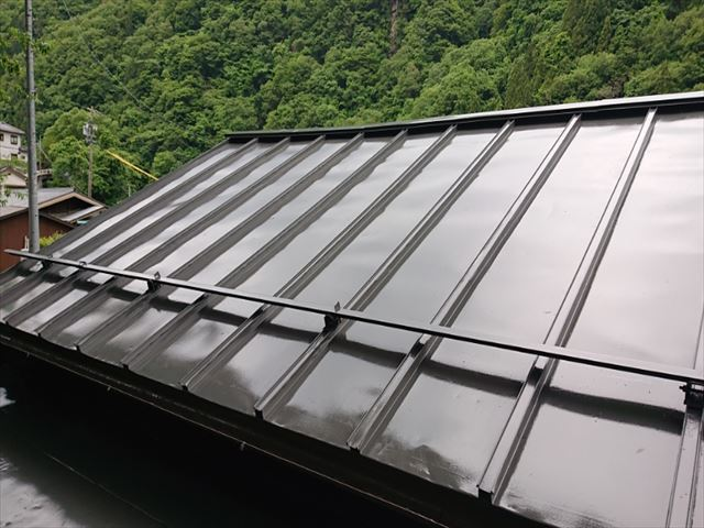 飯田市上村トタン屋根完成2