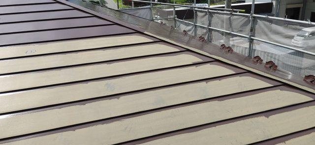 下伊那郡松川町の【遮熱塗料】を使った外壁屋根塗装工事-5.屋根塗装