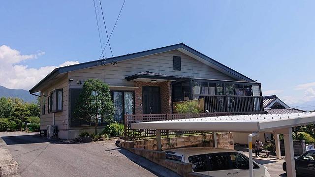 飯田市北方屋根外壁塗装 足場2