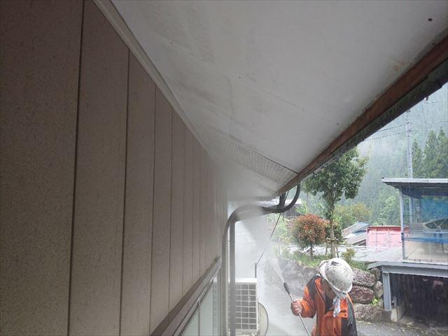 飯田市上村金属屋根壁洗浄3