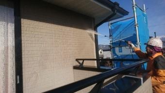 駒ヶ根市赤穂外壁ベランダ修繕洗浄3