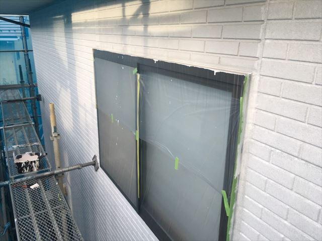 松本市外壁塗装ALC下塗り3