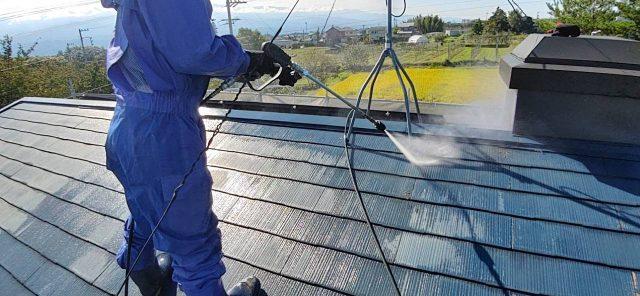 松川町外壁屋根塗装洗浄