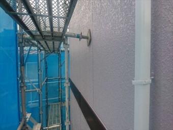 喬木村屋根外壁塗装外壁上塗り2