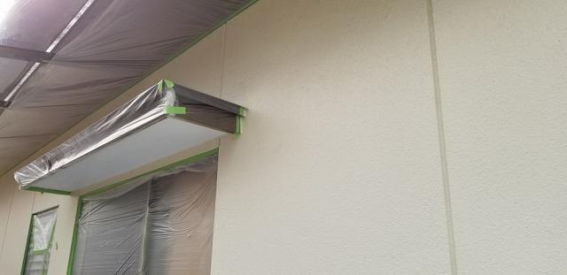 外壁塗装用の養生です