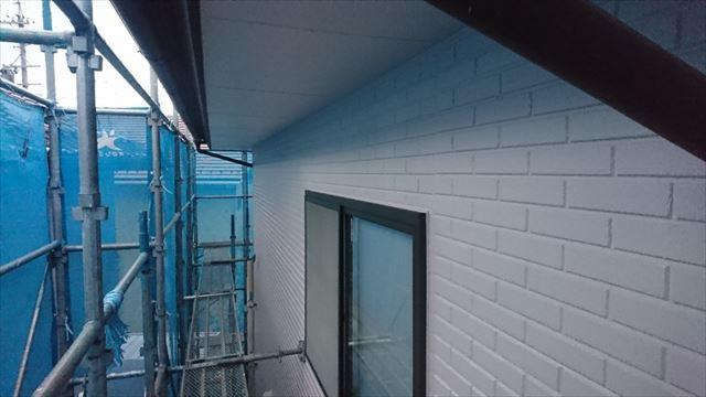 松本市外壁塗装ALC 上塗り2