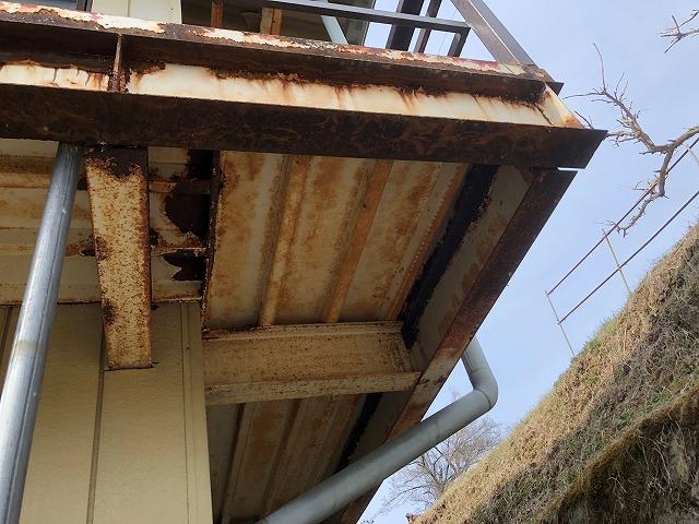 折半トタン屋根の現場点検です