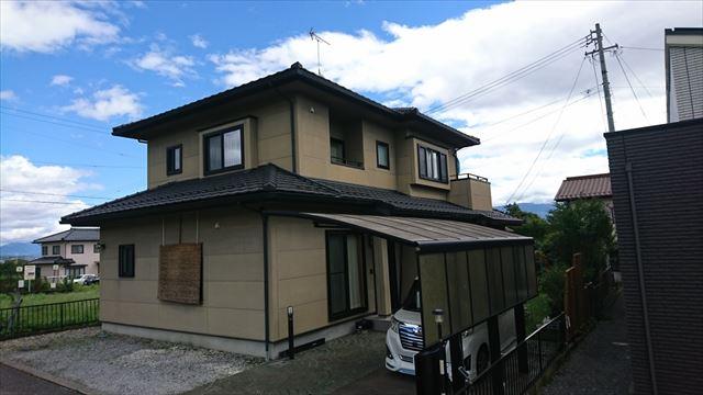 飯田市大瀬木外壁塗装現状1