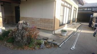 駒ヶ根市下平外壁塗装足場作業1