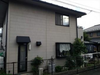 長野県駒ヶ根市外壁現状上塗り比較用1
