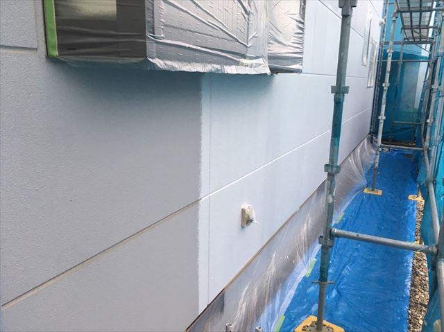 松本市外壁塗装ALC下塗り1