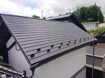 長野県飯島町蔵屋根完成6