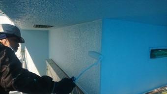 塩尻市外壁塗装屋根カバー上塗り2