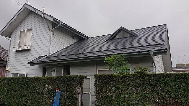 駒ケ根市コロニアル塗装上塗り完成