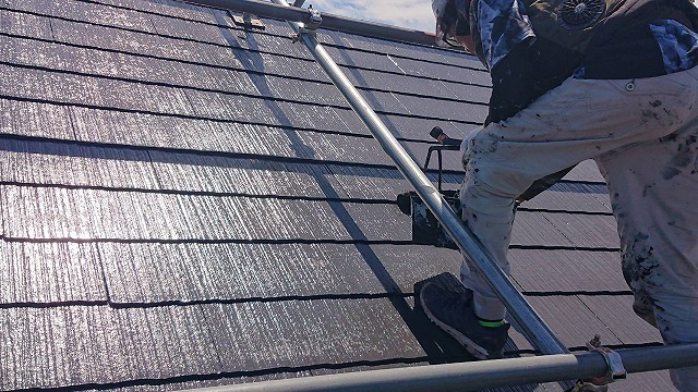 駒ケ根市遮熱塗料屋根完成3