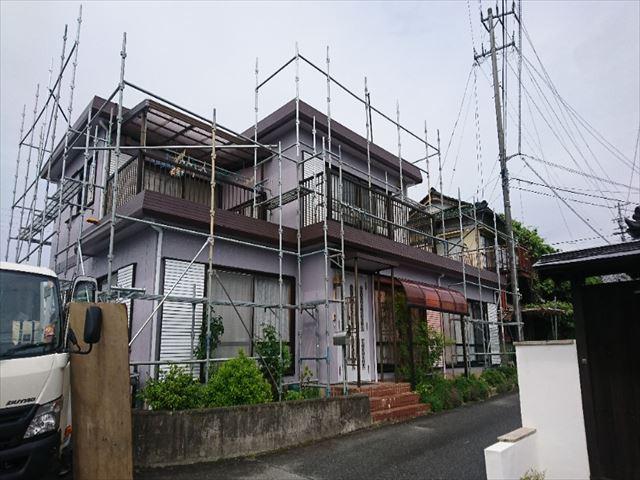 喬木村屋根外壁塗装完成バラシ1