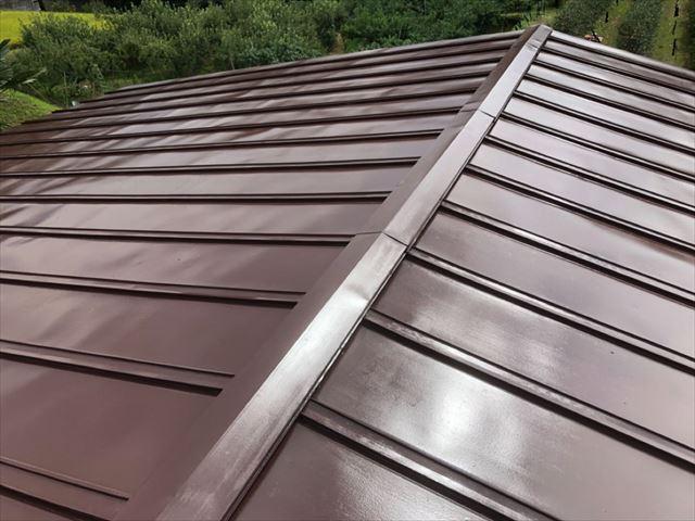 トタン屋根塗装完成後写真