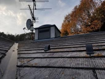 施工前の屋根二階の屋根