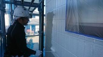 駒ヶ根市外壁下塗り2