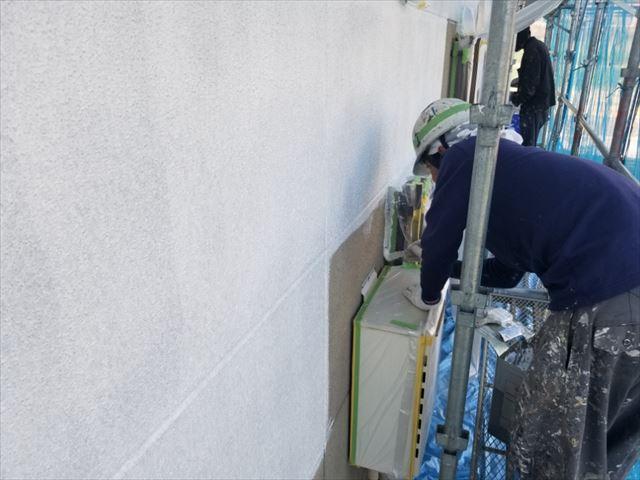 飯田市大瀬木外壁塗装下塗り2