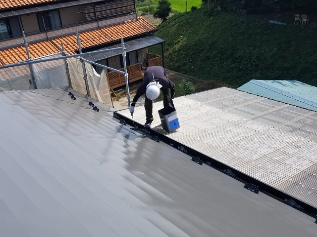 トタン屋根上塗