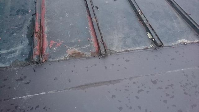 雨漏り板金補修開始です②