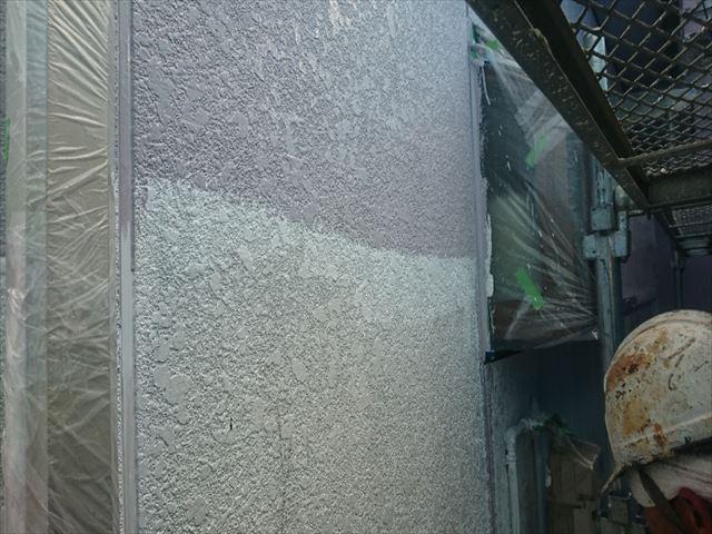 喬木村屋根外壁壁中塗り3