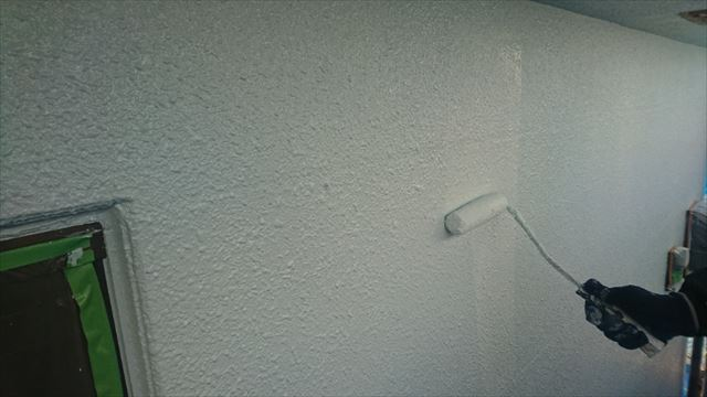 塩尻市外壁塗装屋根カバー上塗り5