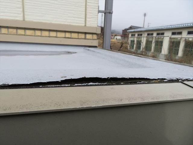 外壁屋根の塗装工事の施工前です③