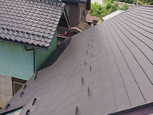 長野県飯島町蔵屋根完成5