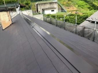 コロニアル屋根の上塗りしました