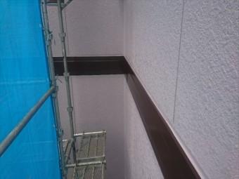 喬木村屋根外壁塗装外壁上塗り3