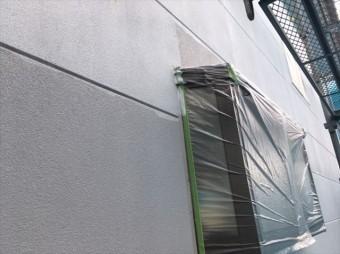 松本市外壁塗装ALC下塗り2