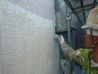 喬木村屋根外壁壁中塗り1
