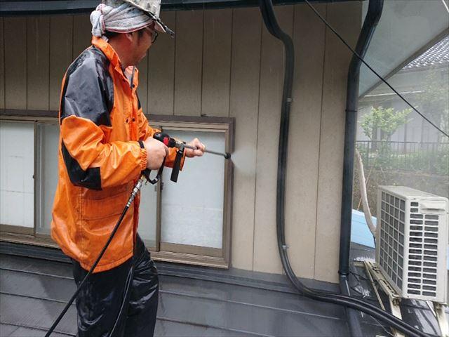 飯田市上村金属屋根壁洗浄1