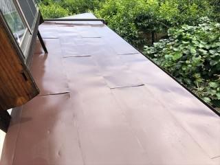 トタン屋根塗装完成しました
