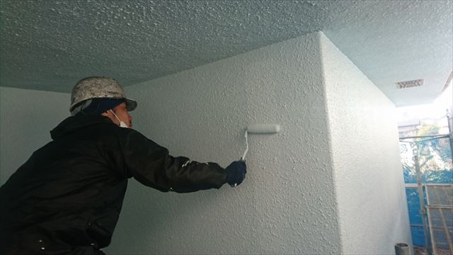 塩尻市外壁塗装屋根カバー上塗り4