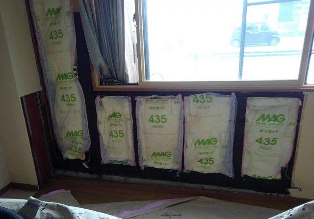 飯田市内で屋根外壁塗装工事とシロアリ駆除を行いました。-3.室内の壁補修