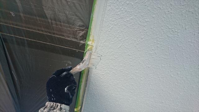 塩尻市外壁塗装屋根カバー中塗り3