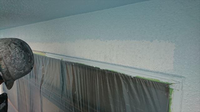 塩尻市外壁塗装屋根カバー中塗り1