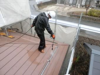 洗浄中屋根