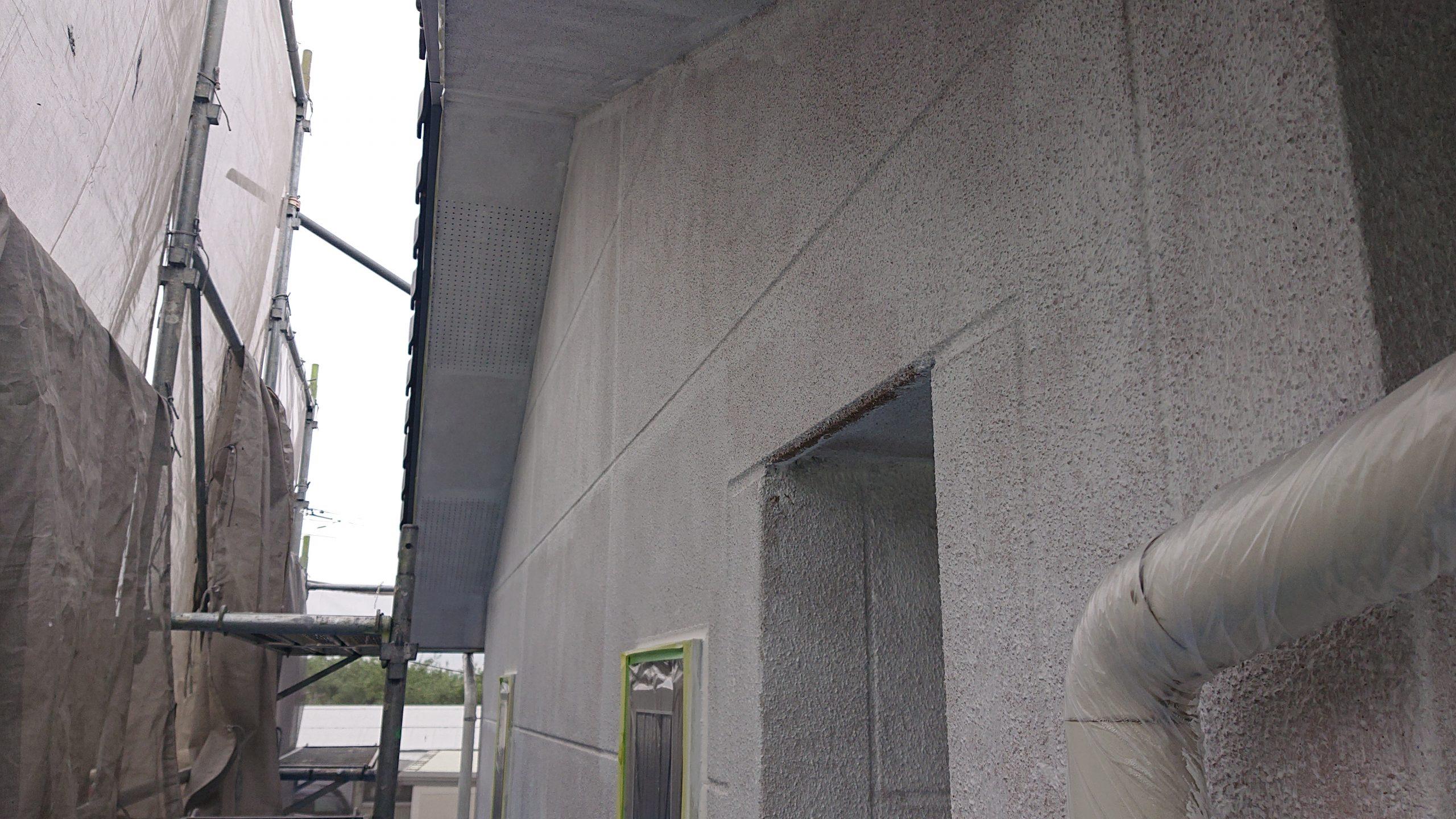 松川町サンワ外壁塗下塗り6