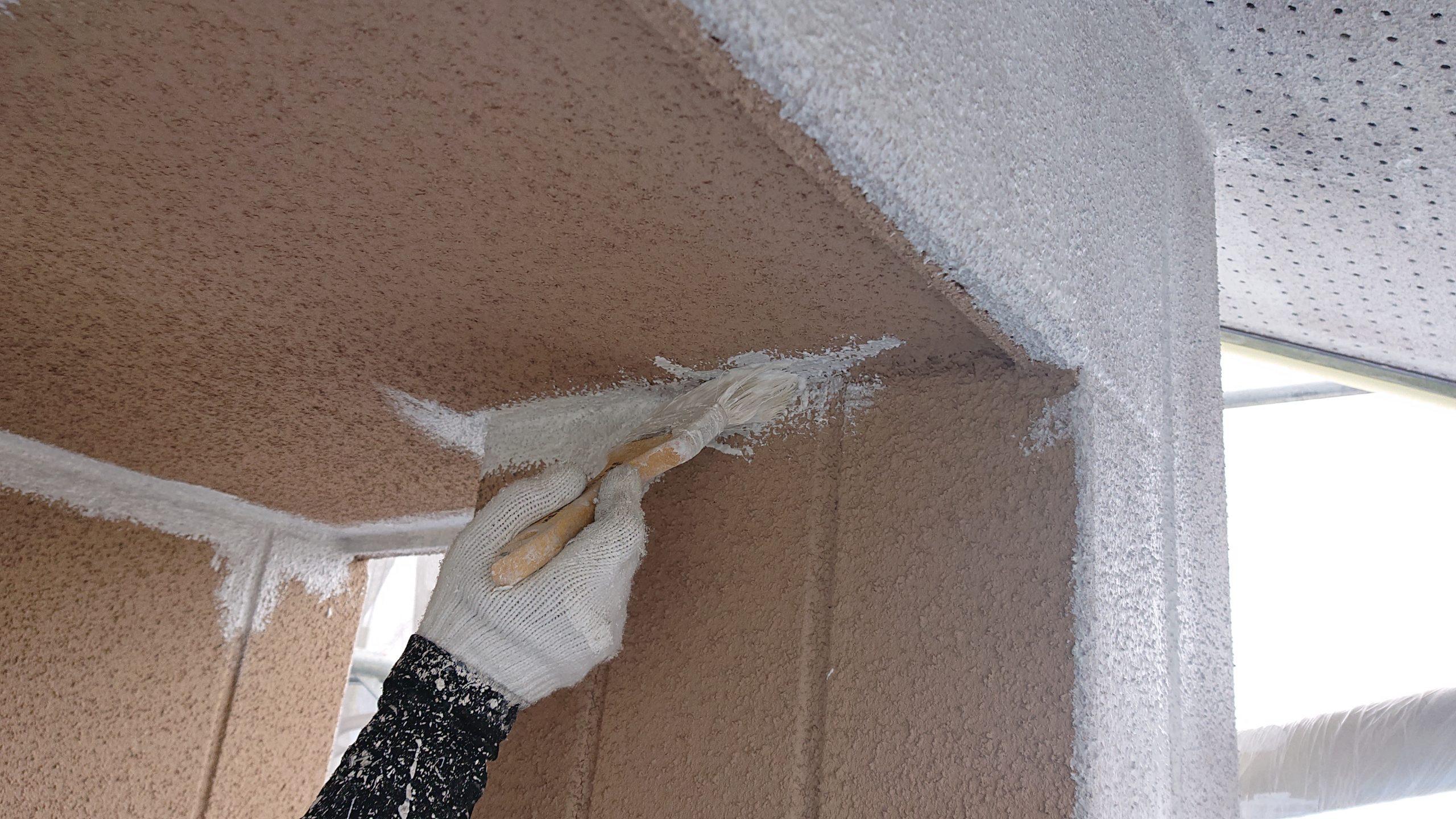 松川町サンワ外壁塗下塗り5