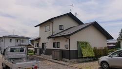 長野県駒ヶ根市外壁屋根塗装仮設足場1